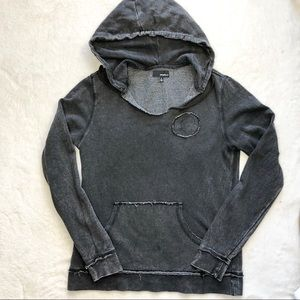 O'neil hoodie sweatshirt S gray wash hooded cotton
